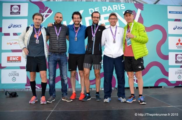 La runnosphère sur le podium de l'Ekiden de Paris 2015